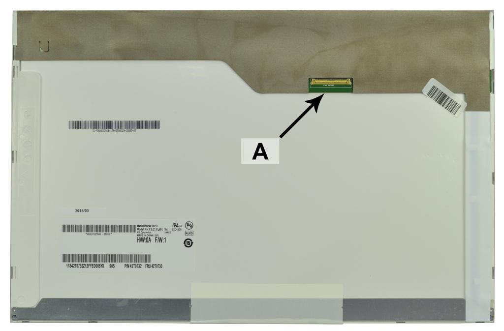 Laptop scherm 04W0434 14.1 inch LED Mat