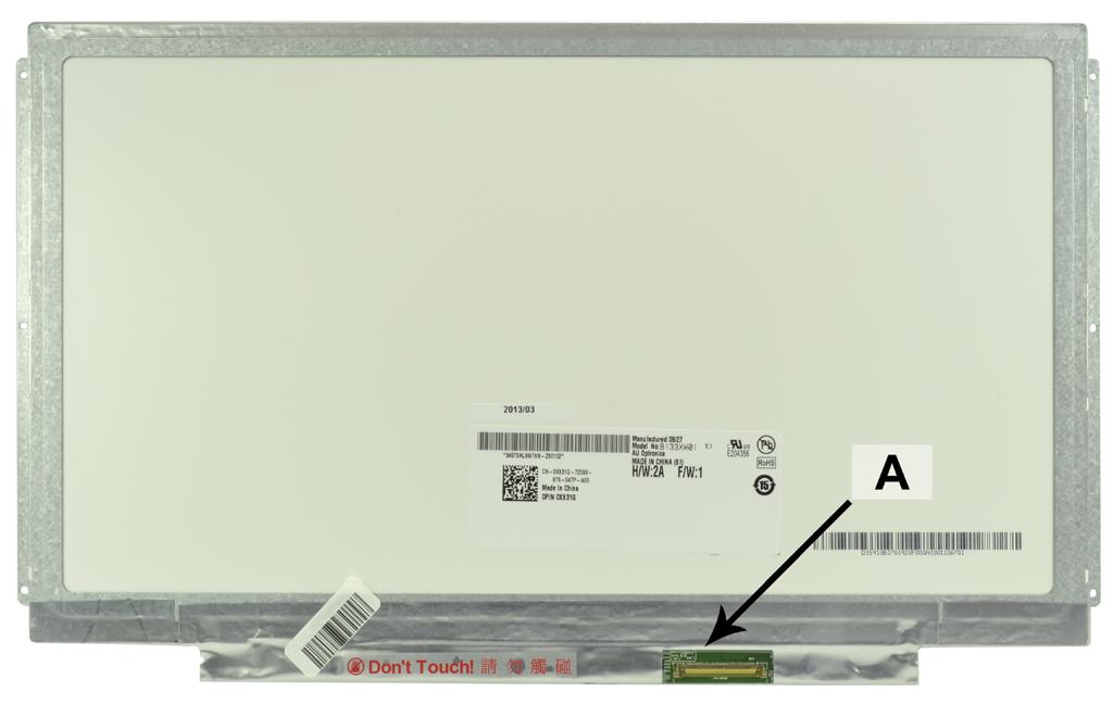 Laptop scherm 09D0GV 13.3 inch LED Mat