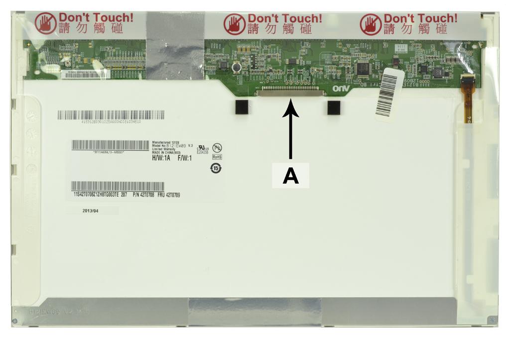 Laptop scherm 42T0709 12.1 inch LED Mat