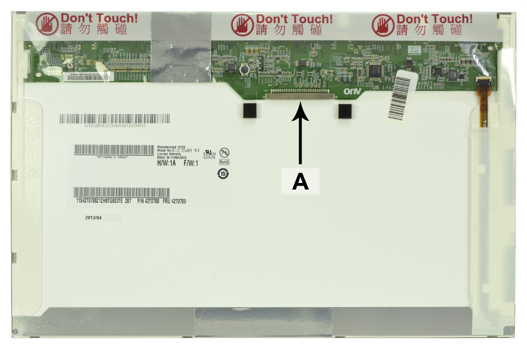 Laptop scherm 42T0711 12.1 inch LED Mat