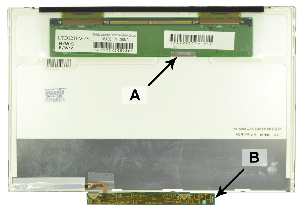 Laptop scherm 492576-001 12.1 inch LED Mat