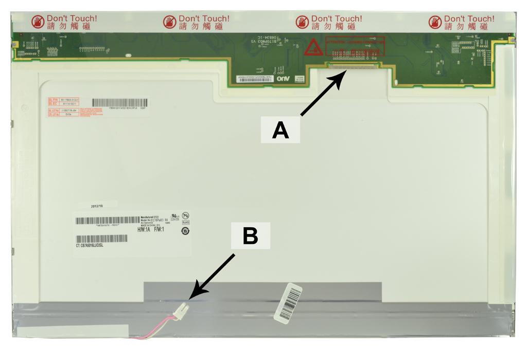 Laptop scherm B170PW01 V.0 17.1 inch CCFL1 Glossy