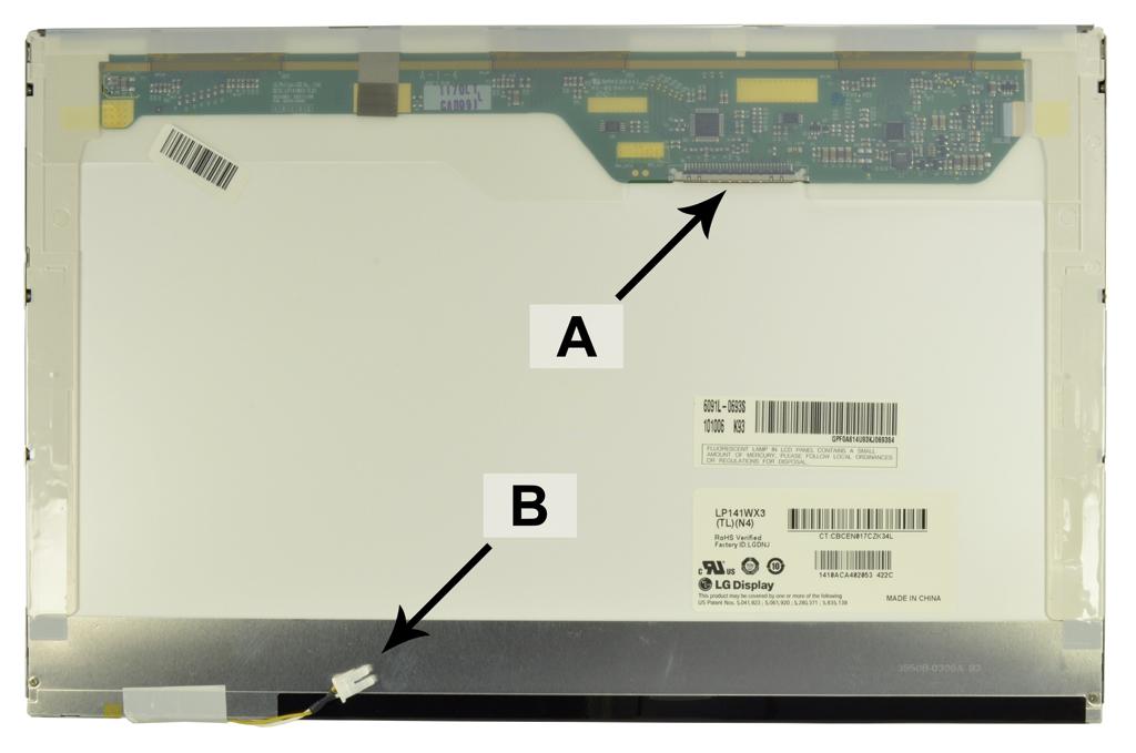 Laptop scherm CLAA141WB05 14.1 inch CCFL1 Glossy