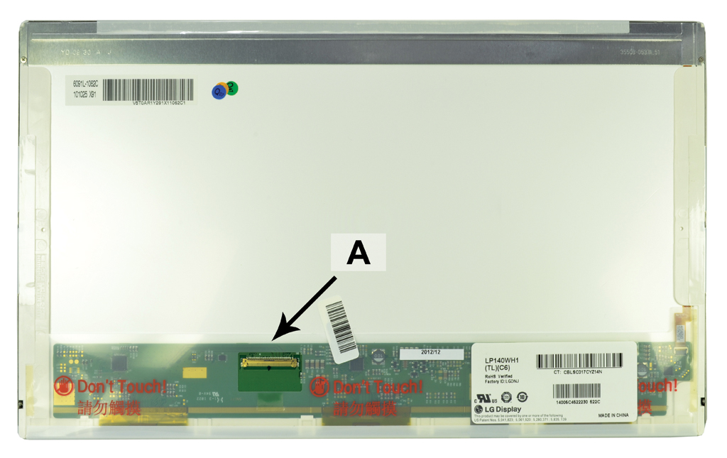 Laptop scherm LTN140AT20-S01 14.0 inch LED Glossy