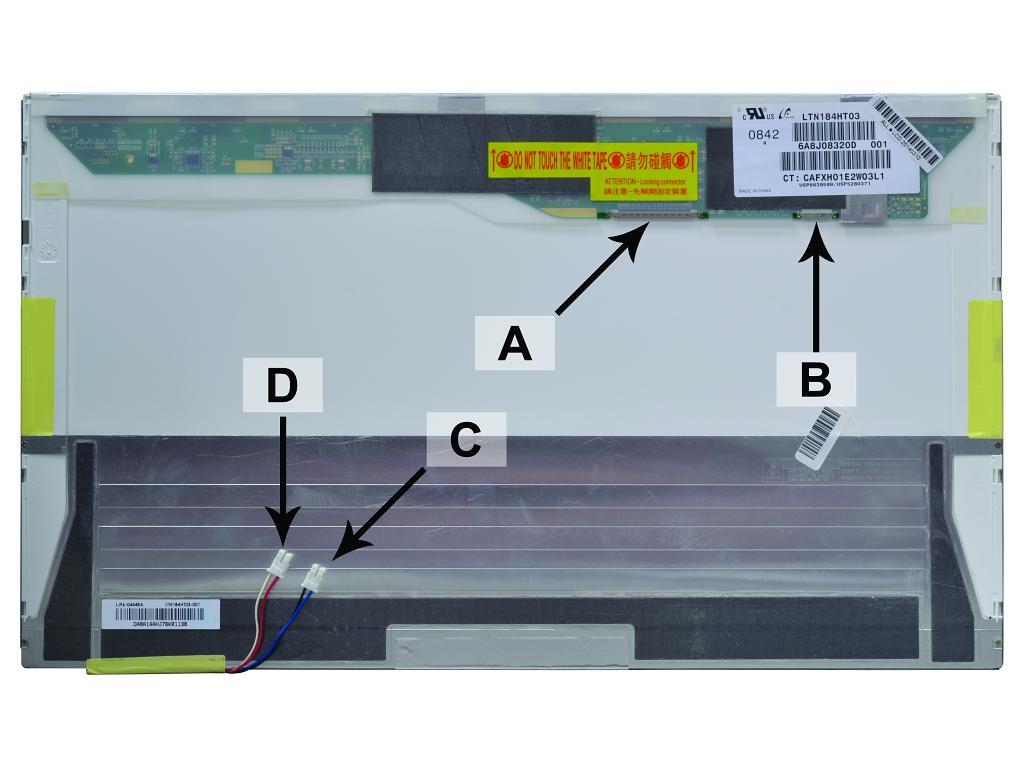 Laptop scherm LTN184HT01-A02 18.4 inch CCFL2 Mat