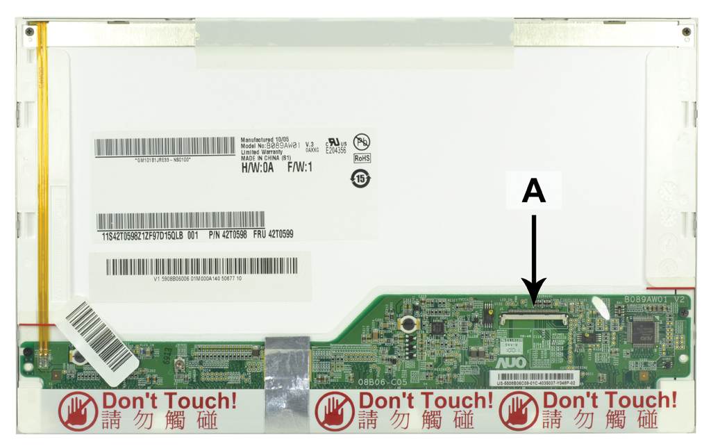 Laptop scherm SCR0078A 8.9  inch LED Glossy