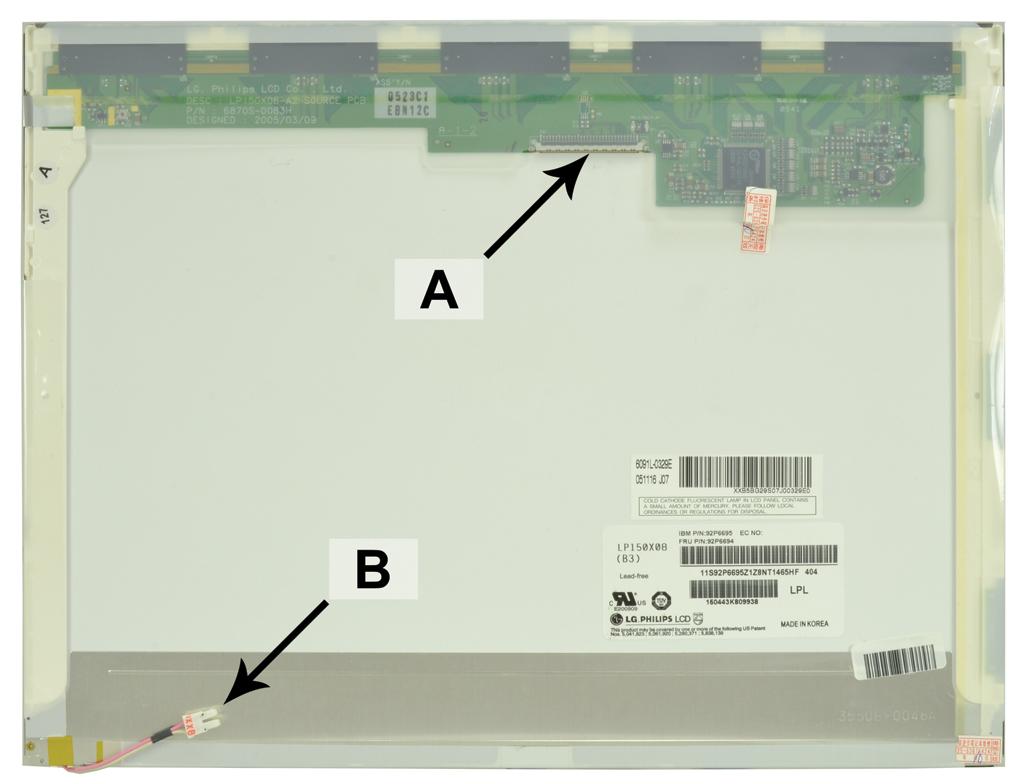 Laptop scherm SCR0129B 15.0 inch CCFL1 Mat